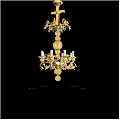 Candelabru bronz in baie Aur 22 becuri
