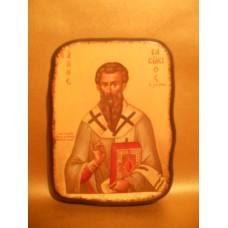 Icoana Lemn Sfantul Vasile