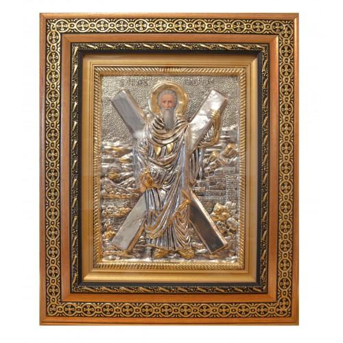 Icoana  Argintata Sfantul Andrei