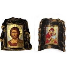 Icoane Ceramica Maica Domnului si Iisus