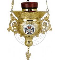 Candele aurite cu medalione email Cod 45-277