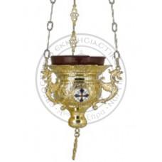 Candele aurite cu medalioane email Cod 45-279