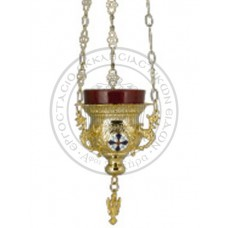 Candele aurite cu medalione email Cod 45-280