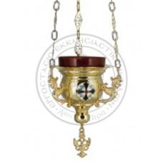 Candele aurite cu medalione email Cod 46-294